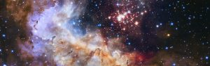 NASA Unveils Celestial Fireworks as Official Hubble 25th Anniversary Image